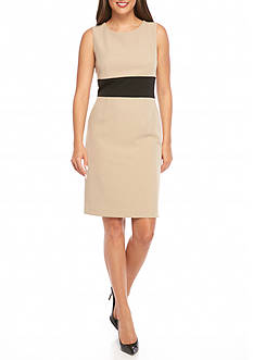 Kasper Sleeveless Colorblock Dress