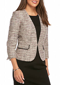 Kasper Petite Multicolored Tweed Jacket