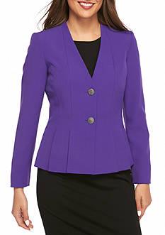 Kasper Dual Button V-Neck Jacket
