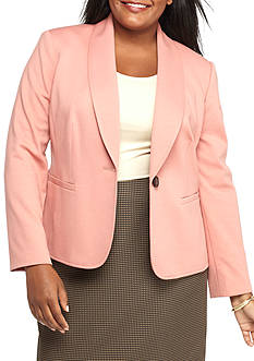 Kasper Plus Size ShawlCollar Knit Jacket