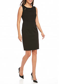 Kasper Sleeveless Solid Dress