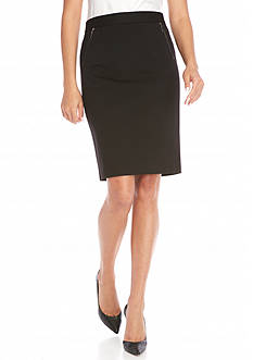 Kasper Solid Skirt