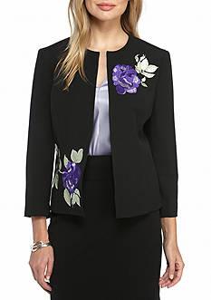 Kasper Floral Embroidery Jacket