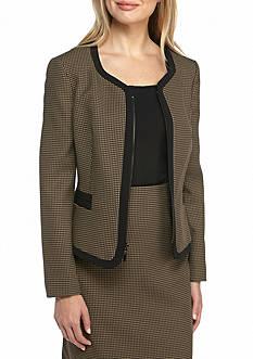 Kasper Jacquard Zipper Front Jacket