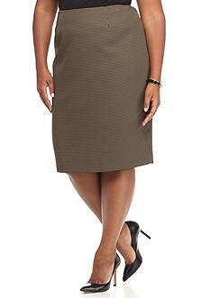 Kasper Plus Size Jacquard Print Skirt