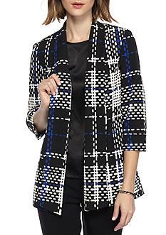 Kasper Print Shawl Collar Jacket