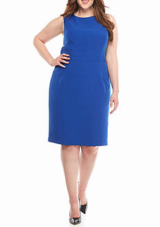 Kasper Plus Size Seamed Sheath Dress
