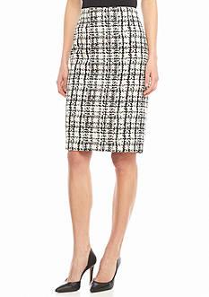 Kasper Jacquard Straight Skirt