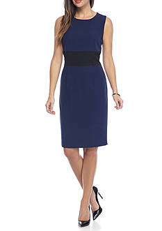 Kasper Colorblock Waist Dress