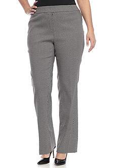 Kasper Plus Size Jacquard Pants