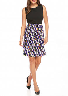 Kasper Sleeveless Print Dress