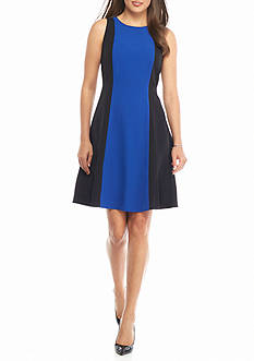 Kasper Colorblock A-line Dress