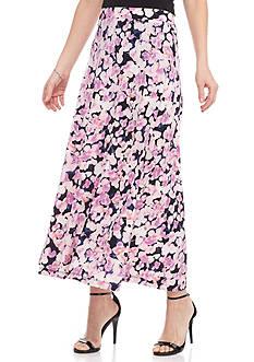 Kasper Floral Printed Maxi Skirt