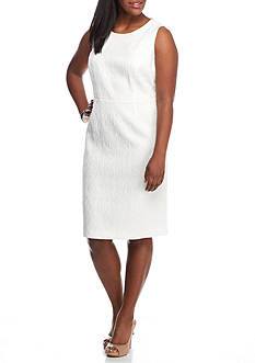 Kasper Plus Size Textured Sheath Dress