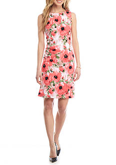 Kasper Floral Print Sheath Dress