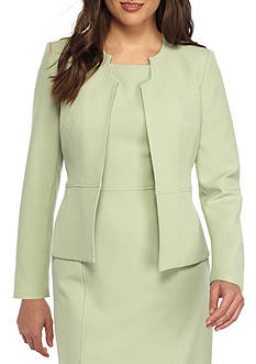Kasper Plus Size Stretch Crepe Jacket