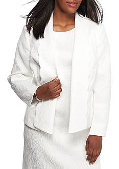Kasper Plus Size Shawl Collar Flyaway Jacket