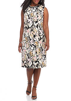 Kasper Plus Size Printed Sheath Dress