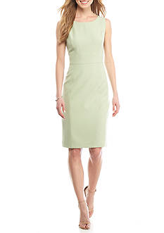 Kasper Solid Sheath Dress