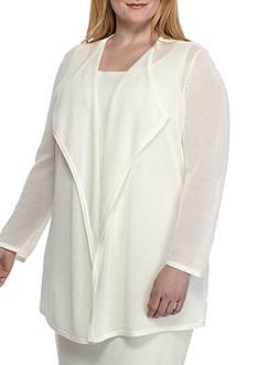 Kasper Plus Size Cardigan Sweater
