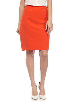 Kasper Crepe Slim Skirt