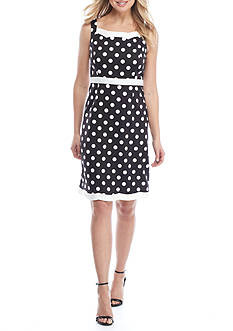 Kasper Dotted Print Dress