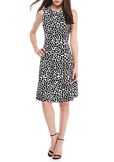Kasper Printed Sheath Dress