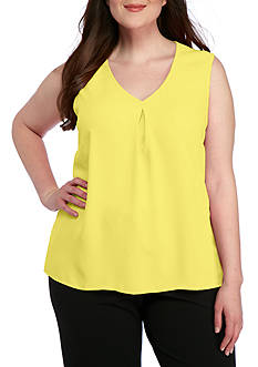 Kasper Plus Size V-Neck Cami