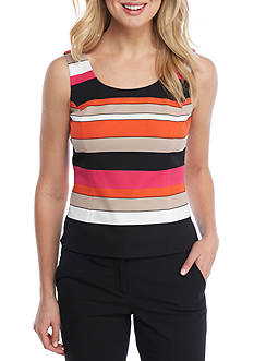 Kasper Stripe Sleeveless Camisole