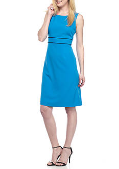 Kasper Petite Stretch Crepe A-Line Dress