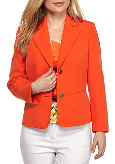 Kasper Petite Notch Collar Seamed Jacket