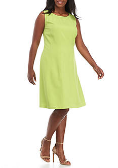 Kasper Plus Size Fit-And-Flare Dress