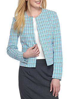 Kasper Check Printed Flyaway Jacket