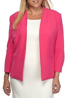 Kasper Plus Size Flyaway Jacket
