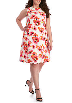 Kasper Plus Size Floral Dress