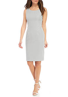 Kasper Seersucker Sheath Dress