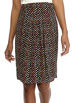 Kasper Petite Bubble Print Full Skirt