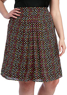 Kasper Plus Size Bubble Printed Skirt