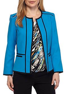 Kasper Petite Pique Front Zip Jacket