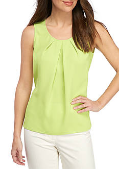 Kasper Pleat Neck Cami