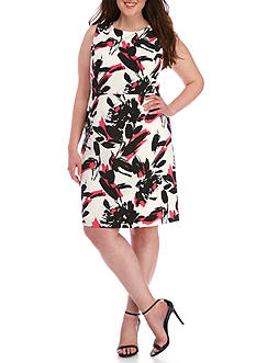 Kasper Plus Size Floral Print Dress