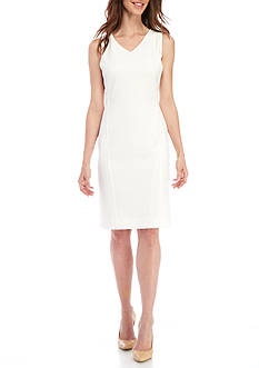 Kasper Sleeveless V-Neck Dress