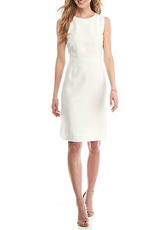Kasper Solid A-line Dress