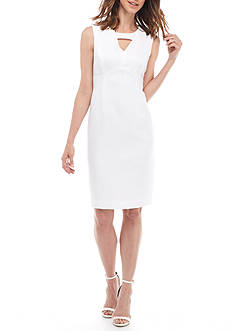 Kasper Jacquard Sheath Dress