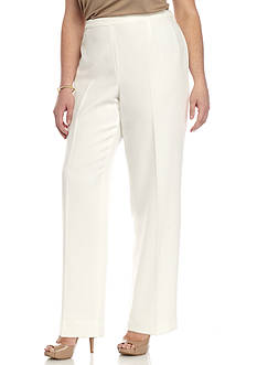 Kasper Plus-Size Side Zip Pant