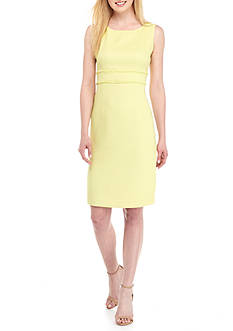 Kasper Textured Linen Sheath Dress