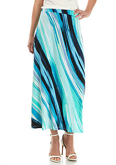 Kasper Printed Maxi Skirt