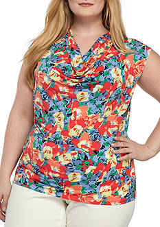 Kasper Plus Size Floral Printed Cami