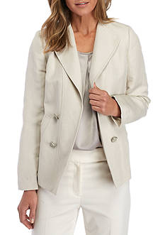 Kasper Double Breasted Linen Jacket