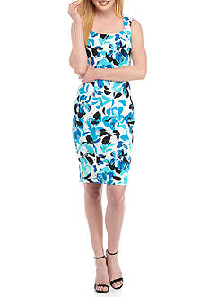 Kasper Floral Printed Sheath Dress